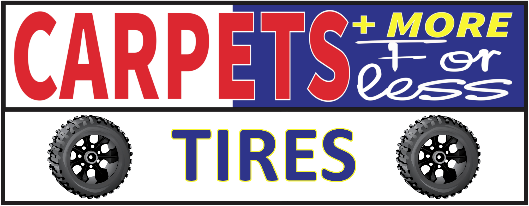 Carpets + More for Less [Tires] Logo